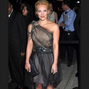 Vera wang black tulle and nude dress size 0